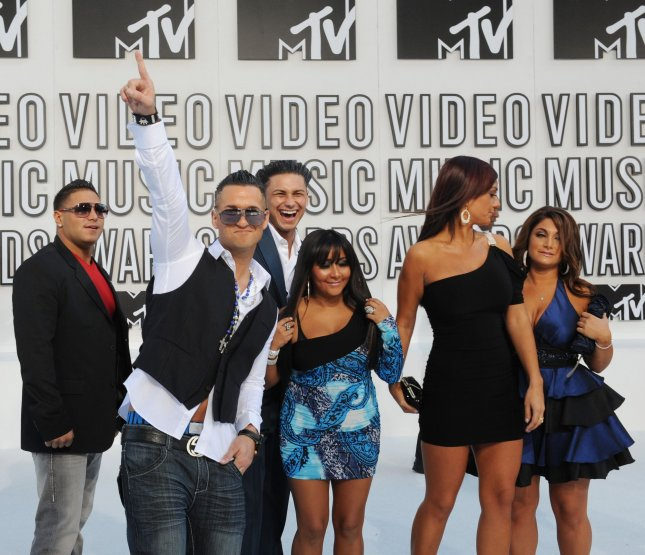 Jersey Shore cast members arrive at the MTV Video Music Awards in Los Angeles on September 12, 2010 in Los Angeles. UPI/Jim Ruymen
