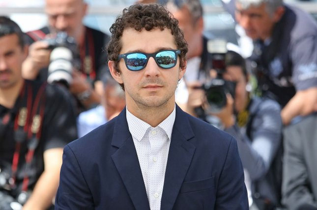 Shia LaBeouf arrives at a photocall for the film American Honey during the 69th annual Cannes International Film Festival on May 15, 2016. LaBeouf stars as tennis pro John McEnroe in the trailer for Borg/McEnroe. File Photo by David Silpa/UPI