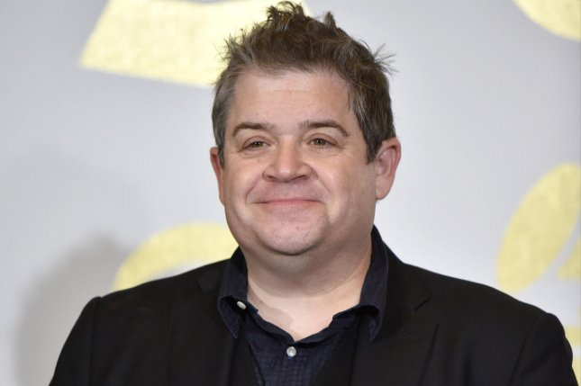 Patton Oswalt explained in a new interview why he wed Meredith Salenger 18 months after wife Michelle McNamara's sudden death. File Photo by Christine Chew/UPI