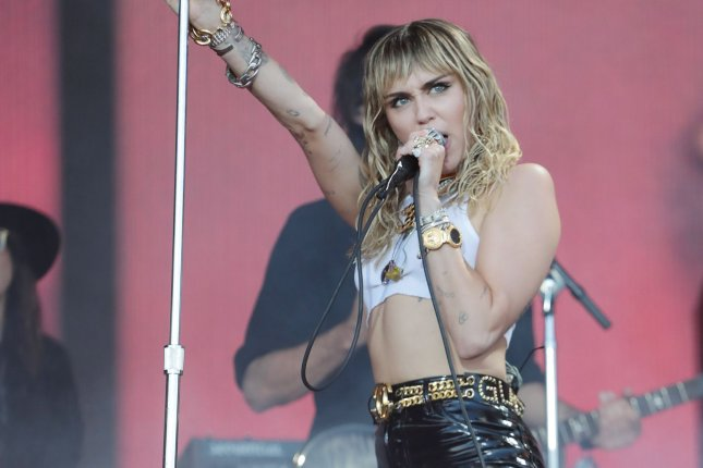 Miley Cyrus has pulled out of the Woodstock 50 Music and Arts Fair, along with The Raconteurs. The event has now been canceled. File Photo by Hugo Philpott/UPI
