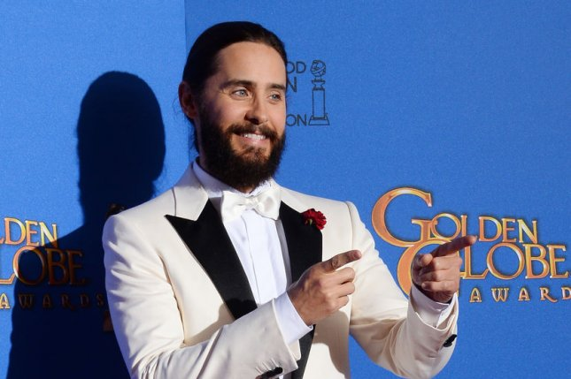 Jared Leto at the Golden Globe Awards on January 11, 2015. The actor sent gross gifts to his 'Suicide Squad' co-stars. File photo by Jim Ruymen/UPI