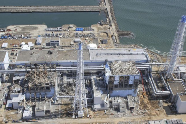 The crippled Fukushima Dai-ichi nuclear power plant in Okumamachi, Fukushima prefecture, northern Japan. A Japanese nuclear power plant reactor near Osaka that had shown signs of radioactive leaks is to resume operations. File Photo by Air Photo Service Co. Ltd.