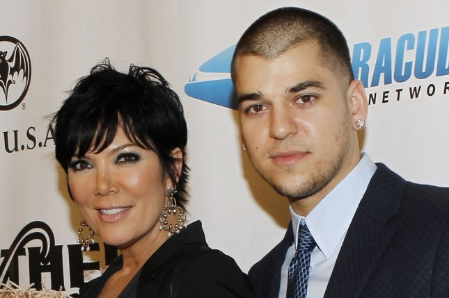Kris Jenner (L) and son Rob Kardashian at the Leather and Laces party on February 5, 2010. The reality star commented on Rob's relationship with Blac Chyna in a recent interview. File Photo by John Angelillo/UPI