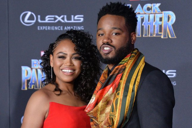 Filmmaker Ryan Coogler (R) pictured here with his wife Zinzi Evans. Coogler thanked fans on social media for the success of his film Black Panther. File Photo by Jim Ruymen/UPI