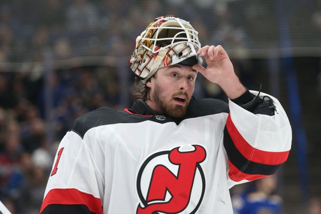 Keith Kinkaid and the New Jersey Devils square off with the Colorado Avalanche on Thursday. Photo by BIll Greenblatt/UPI