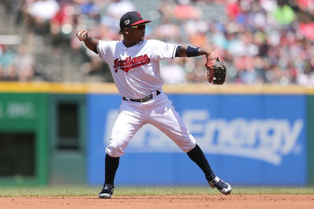 Cleveland Indians third baseman Jose Ramirez will undergo surgery for a fractured hamate bone in his right hand. File Photo by Aaron Josefczyk/UPI