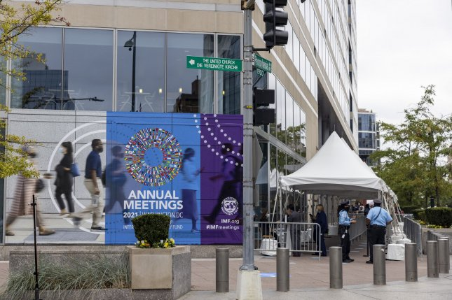 The annual meetings of the World Bank and International Monetary Fund are being held this week in Washington, D.C. Photo by Tasos Katopodis/UPI