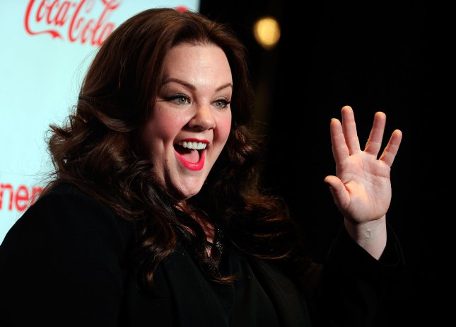 Actress Melissa McCarthy, recipient of the Female Star of the Year, arrives at the CinemaCon awards ceremony at the Pure Nightclub at Caesars Palace during CinemaCon, the official convention of the National Association of Theatre Owners in Las Vegas, Nevada on April 18, 2013. UPI/David Becker
