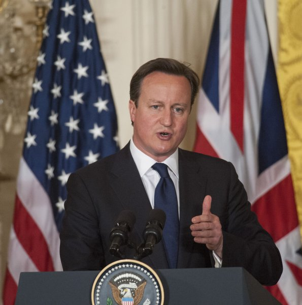 British Prime Minister David Cameron, pictured during a visit to the United States May 13, 2013. UPI/Pat Benic