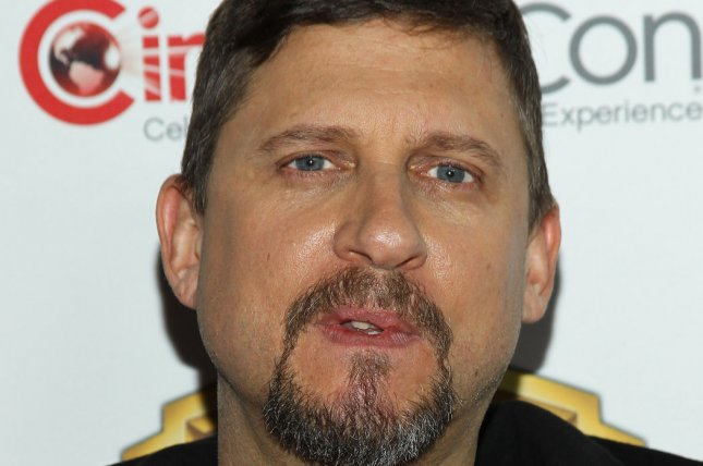 Suicide Squad director David Ayer arrives for the Warner Bros. Pictures Presentation at CinemaCon 2016 in Las Vegas on April 12, 2016. File Photo by James Atoa/UPI