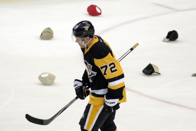 Patric Hornqvist scored two goals, Matthew Murray had 27 saves and the Pittsburgh Penguins beat the Colorado Avalanche 4-1 on Thursday night. File Photo by Archie Carpenter/UPI