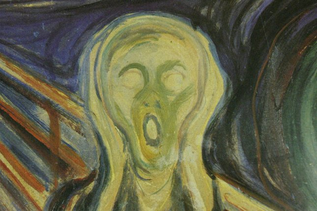 Armed robbers pulled the Edvard Munch painting The Scream, from the walls of the Munch Museum and escaped in broad daylight in Oslo on August 22, 2004. The painting was found about two years later. File Photo Bill Greenblatt/UPI