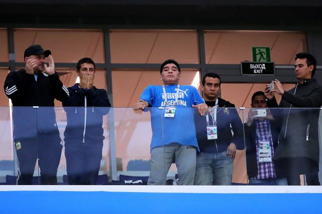 Argentina Icon Diego Maradona Gives Update After World Cup Health Scare Upi Com