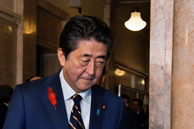 Japan's Prime Minister Shinzo Abe has called for amending Japan's pacifist Constitution. File Photo by Keizo Mori/UPI