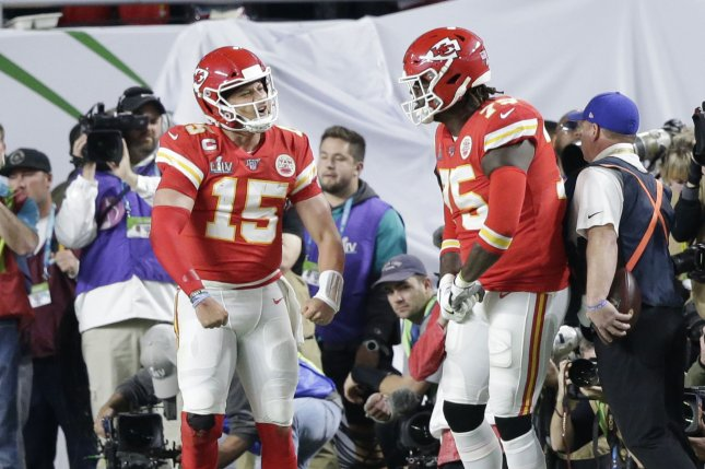 Former first-round pick Cameron Erving (75) spent the past three seasons with the Kansas City Chiefs. File Photo by John Angelillo/UPI