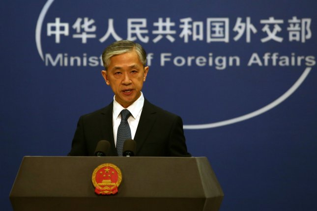 China's foreign ministry spokesman Wang Wenbin said a closed-door U.N. Security Council meeting failed to guard against the leak of internal documents after the Council met Tuesday. File Photo by Stephen Shaver/UPI