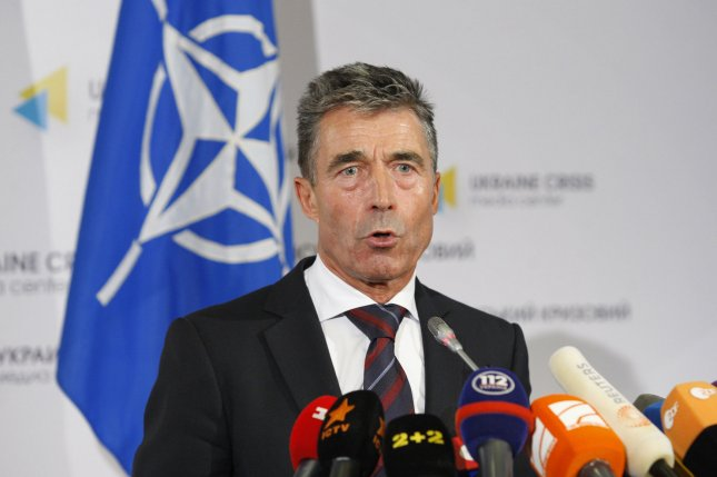 NATO Secretary General Anders Fogh Rasmussen, pictured in August, reaffirmed at the NATO Summit in Wales on September 4, 2014 that Now in these difficult times, NATO stands by Ukraine. (UPI/Ivan Vakolenko)