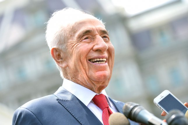 Former Israeli Prime Minister and President Shimon Peres, a co-winner of the 1994 Nobel Peace Prize for the Oslo Peace Accords, has died age 93. Peres suffered a stroke on Sept. 13. UPI/Kevin Dietsch