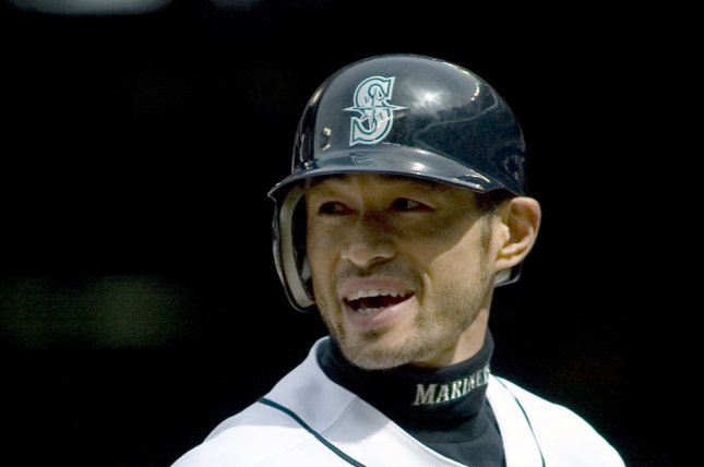 Ichiro Suzuki will take the field in the starting lineup for the Seattle Mariners on Wednesday when they open the season in the Toyko Dome against the Oakland A's, the team confirmed Monday. File Photo by Jim Bryant/UPI