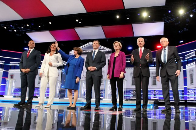 The Democratic primary season begins February 3 in Iowa. Photo by Tami Chappell/UPI