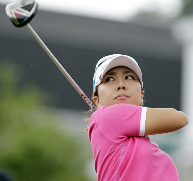 Mika Miyazato, shown in a 2011 file photo, won the LPGA's Safeway Classic and moves into the Top 10 of the world women's golf rankings. UPI/John Angelillo