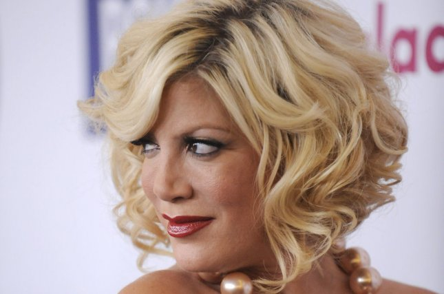 Tori Spelling attends the 22nd annual GLAAD Media Awards held at the Westin Bonaventure in Los Angeles on April 10, 2011. UPI/Phil McCarten