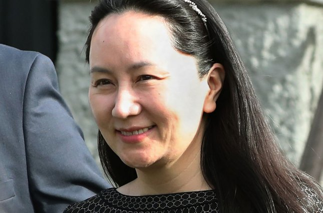 Huawei CFO Meng Wanzhou wrote a letter on Sunday marking her one-year anniversary in Canadian detention. File Photo by Heinz Ruckemann/UPI