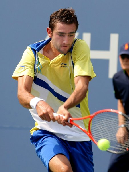 Marin Cilic, shown at the 2011 U.S. Open, had a three-set win Thursday and put him into the quarterfinals of the St. Petersburg Open in Russia. UPI/Monika Graff