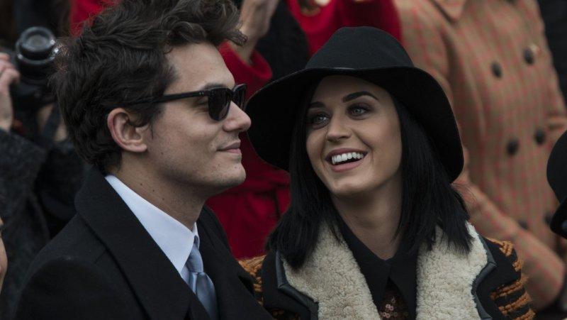 John Mayer and Katy Perry. UPI/Mannie Garcia