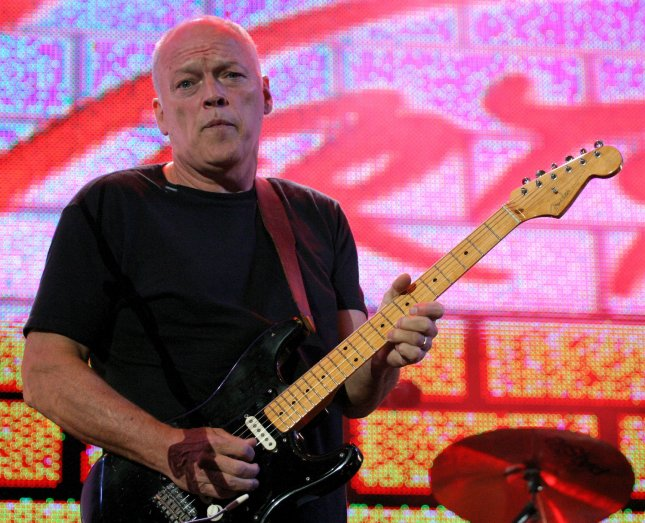 David Gilmour of the band Pink Floyd, reunited for the first time in 20 years, performs during the Live 8 Concert in Hyde Park in London, England July 2, 2005. Gilmour officially announced his breakup from the band in an interview this week. Photo by David Silpa/UPI
