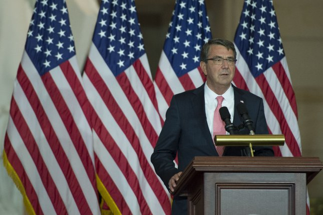Defense Secretary Ashton Carter said the Defense Department will invest $75 million in the institute, which will be established in Silicon Valley, Calif. File Photo by Kevin Dietsch/UPI