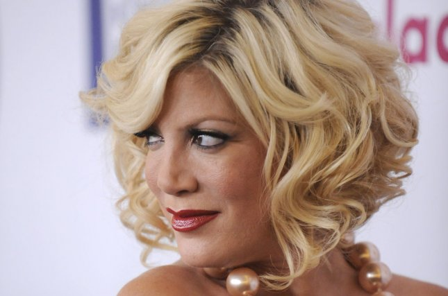 Tori Spelling attends the 22nd annual GLAAD Media Awards held at the Westin Bonaventure in Los Angeles on April 10, 2011. Spelling is sueing Benihana restaurants over 3rd degree burns she experienced during an Easter visit. File Photo by Phil McCarten/UPI