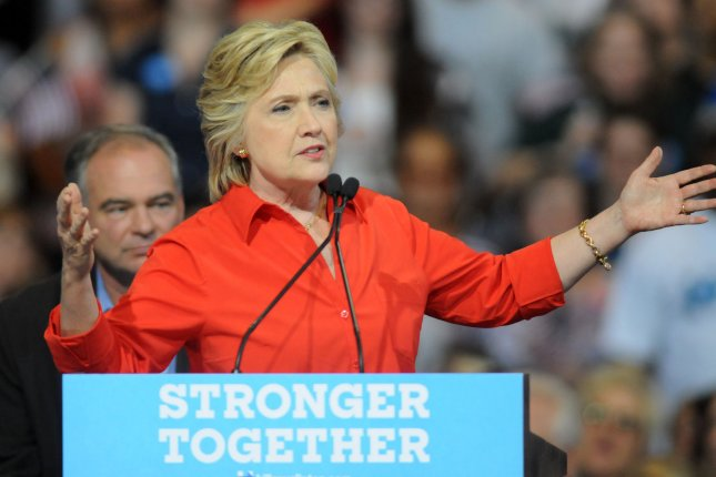 Democratic presidential nominee Hillary Clinton addresses the crowd July 30 in Pittsburgh. If she wins the presidency, she would have to rely on bipartisan support to push her agenda should Republican maintain control of Congress. Photo by Archie Carpenter/UPI