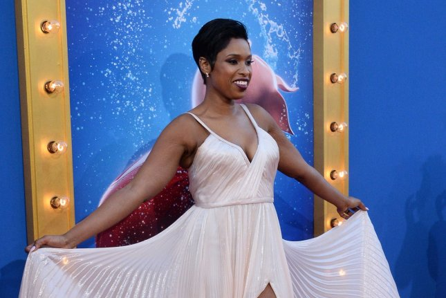 Cast member Jennifer Hudson, the voice of Young Nana Noodleman in the animated motion picture comedy Sing, and her son David Daniel Otunga, Jr., attend the premiere of the film in Los Angeles on December 3, 2016. Hudson is now a coach on the British version of The Voice. Photo by Jim Ruymen/UPI