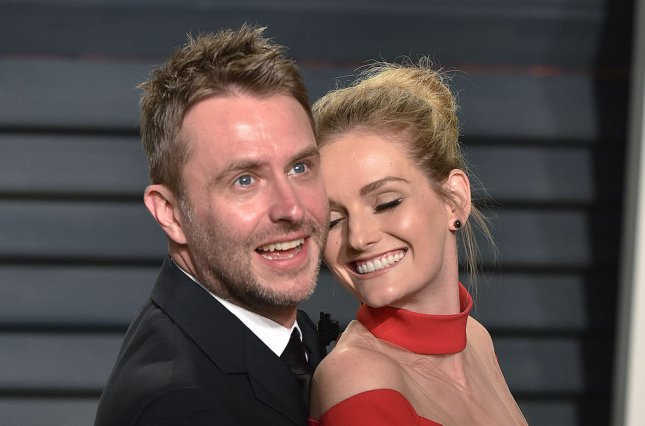 Chris Hardwick (L) and his wife Lydia Hearst attend the Vanity Fair Oscar Party at the Wallis Annenberg Center for the Performing Arts in Beverly Hills on February 26. Talking with Chris Hardwick is to debut April 9. File Photo by Christine Chew/UPI