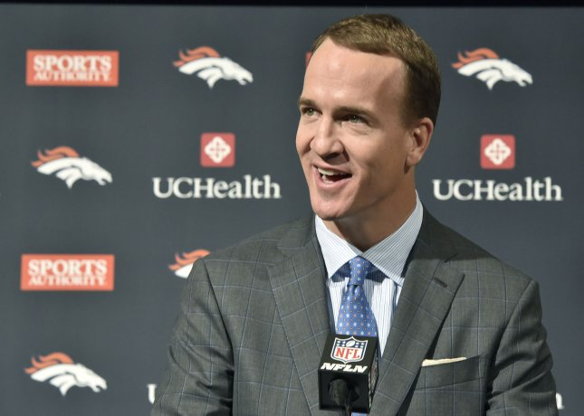 Former NFL quarterback Peyton Manning is among the finalists for the available Monday Night Football color analyst position. Photo by Eric Bakke/UPI