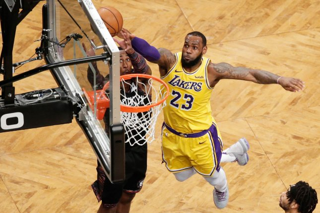 Los Angeles Lakers forward LeBron James will star in Space Jam 2, which debuts on July 16, 2021. File Photo by John Angelillo/UPI