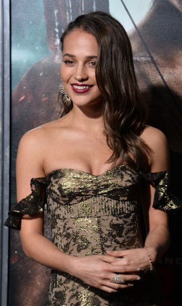 Alicia Vikander will appear alongside Lily James in BBC's Four Weddings and a Funeral return as part of Red Nose Day. File Photo by Jim Ruymen/UPI