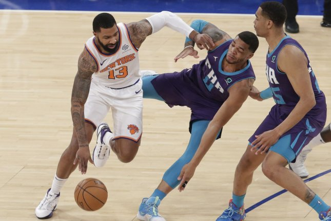 New York Knicks forward Marcus Morris Sr. (13) has averaged a career-high 19.6 points per game this season. File Photo by John Angelillo/UPI