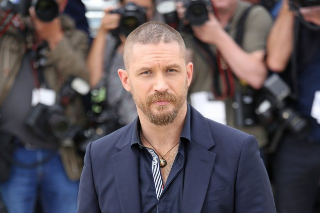 Tom Hardy arrives at a photo call for the film Mad Max : Fury Road during the 68th annual Cannes International Film Festival in Cannes, France on May 14, 2015. Photo by David Silpa/UPI
