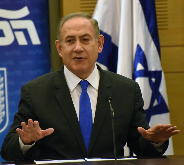 Israeli Prime Minister Benjamin Netanyahu acknowledged last year that Israel has been mounting airstrikes in Syrian territory to curb shipments of what he called game-changing weaponry to Hezbollah. Photo by Debbie Hill/UPI