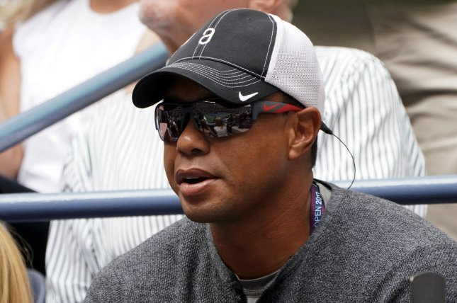 Golfer Tiger Woods attends the match between Rafael Nadal of Spain and Keven Anderson of South Africa during their championship match in Arthur Ashe Stadium on September 10 at the 2017 US Open Tennis Championships at the USTA Billie Jean King National Tennis Center in New York City. Photo by Ray Stubblebine/UPI