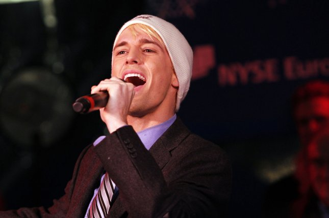 Singer Aaron Carter shared on social media Saturday a photo of what appears to be a new tattoo on his face. File Photo by John Angelillo/UPI
