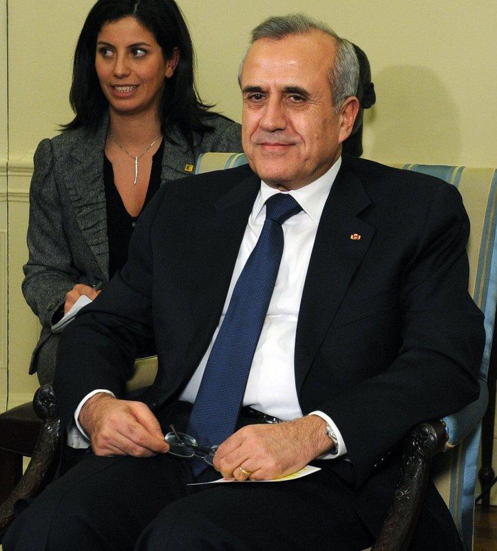 Lebanese President Michel Suleiman. UPI/Roger L. Wollenberg