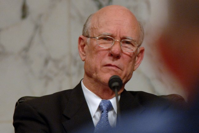 Sen. Pat Roberts, R-KS, is in danger of losing his seat, whether or not his Democratic opponent remains on the ballot, a new poll finds. (UPI Photo/Roger L. Wollenberg)
