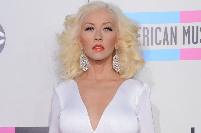 Christina Aguilera has released a lyric video for her new song with Demi Lovato, Fall in Line. File Photo by Phil McCarten/UPI
