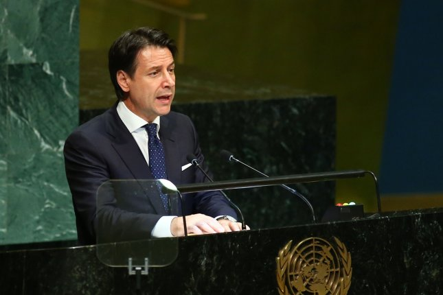 Italian Prime Minister Giuseppe Conte said Tuesday he will resign due to an ongoing political crisis. File Photo by Monika Graff/UPI