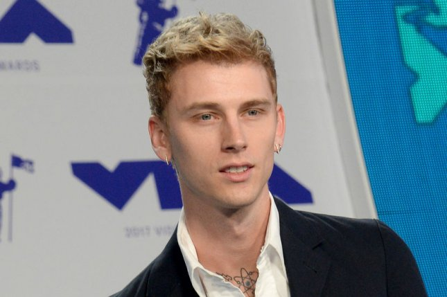 The rapper, real name Colson Baker, did not specify the cause of his father's death. File Photo by Jim Ruymen/UPI