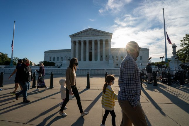 President Donald Trump said Saturday Republicans have an obligation to fill the vacant seat of U.S. Supreme Court Justice Ruth Bader Ginsburg without delay.Photo by Ken Cedeno/UPI