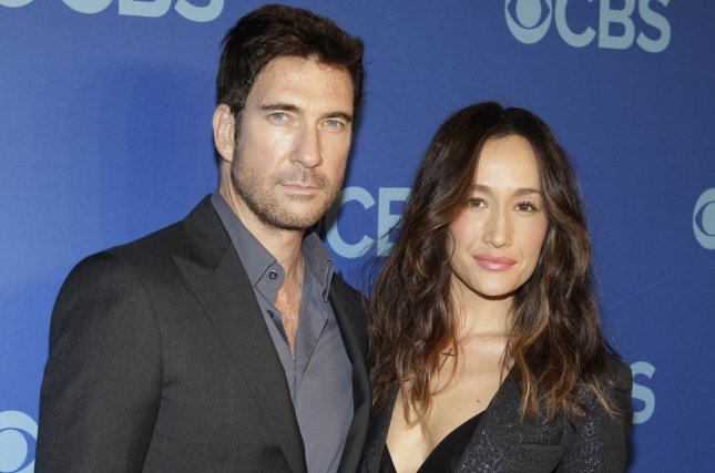 Dylan McDermott and Maggie Q arrive on the red carpet at the CBS 2014 Upfront Presentation at The Tents at Lincoln Center in New York City on May 14, 2014. UPI/John Angelillo